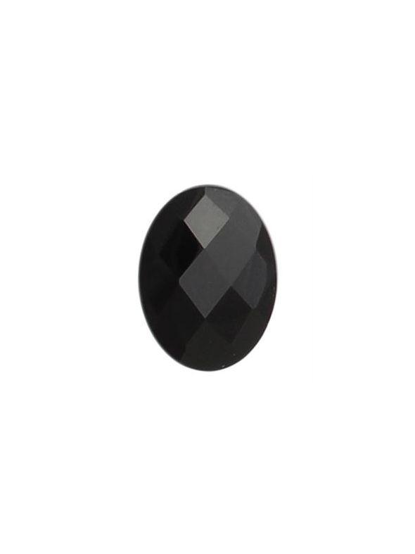 Black Agate Oval Stone