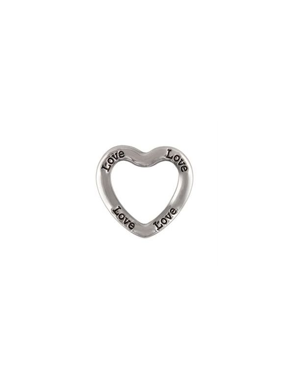 'Love' Large Silver Heart Frame