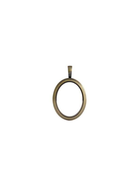 Matte Gold Vintage Oval Locket