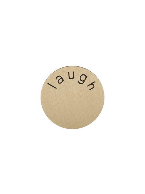 'Laugh' Medium Gold Coin