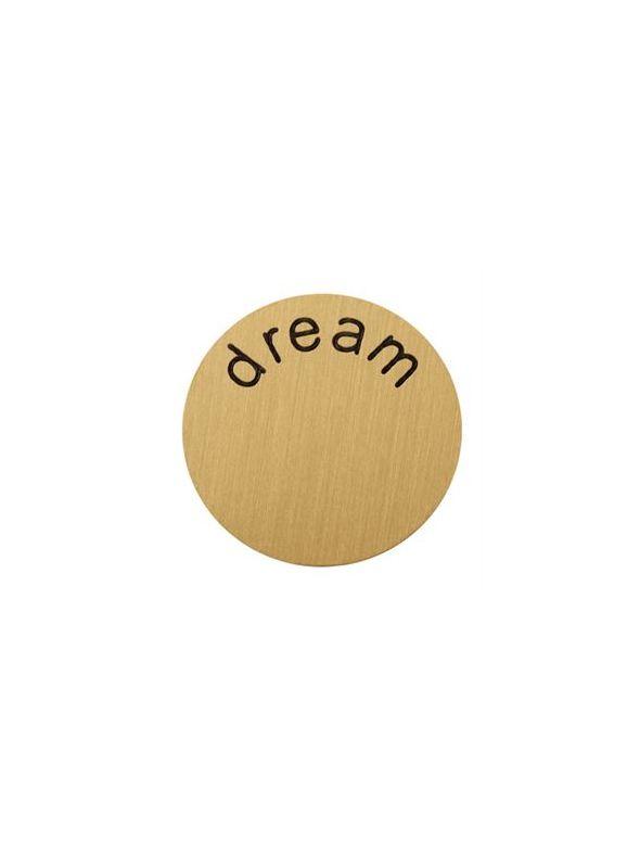 'Dream' Medium Gold Coin