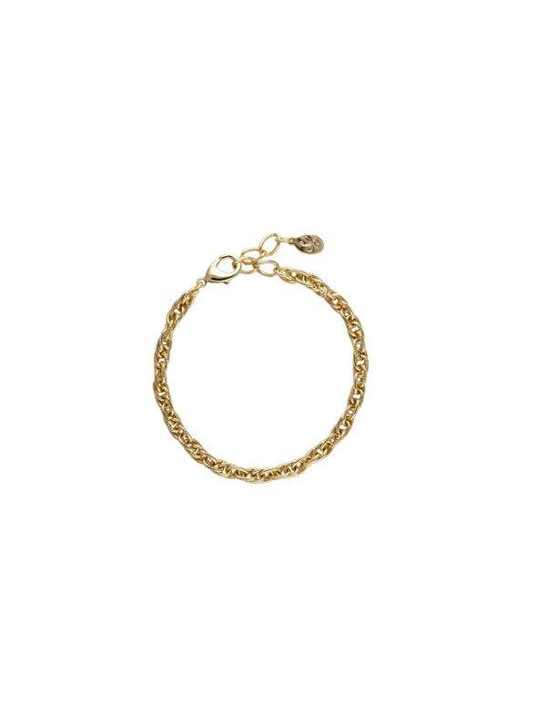 Gold Textured Rope Bracelet