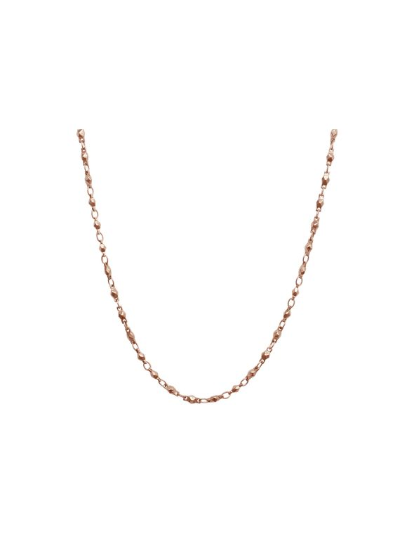 """Rose Gold Multifaceted Link Chain - 28"""""""