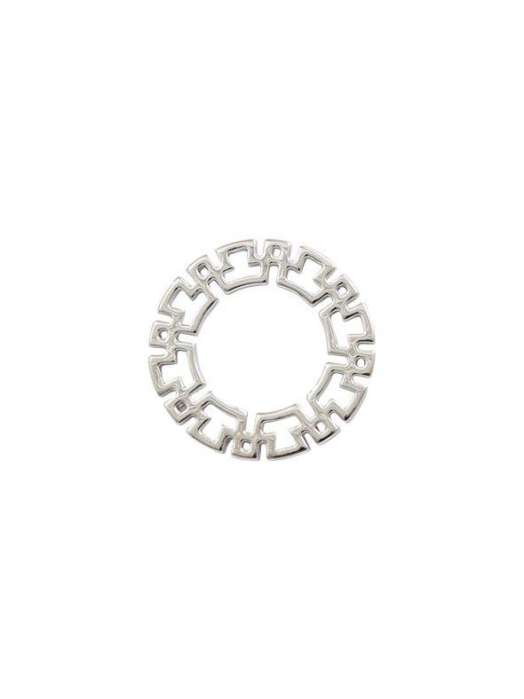 Mayan Silver Circle Frame