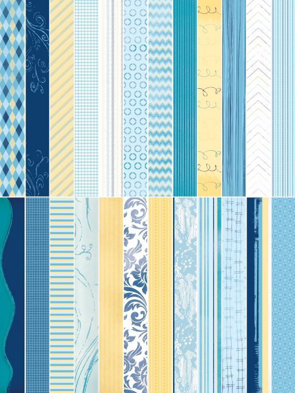 Blue Skies Designer Border Strips