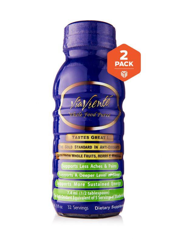 ViaViente Whole Food Puree 2 Pack (2-8oz Bottles)